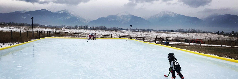 NiceRink on (With images) | Backyard ice rink, Backyard ...