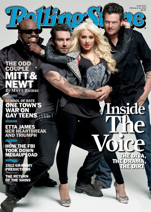 Cee Lo Green Adam Levine Christina Aguilera Blake Shelton For