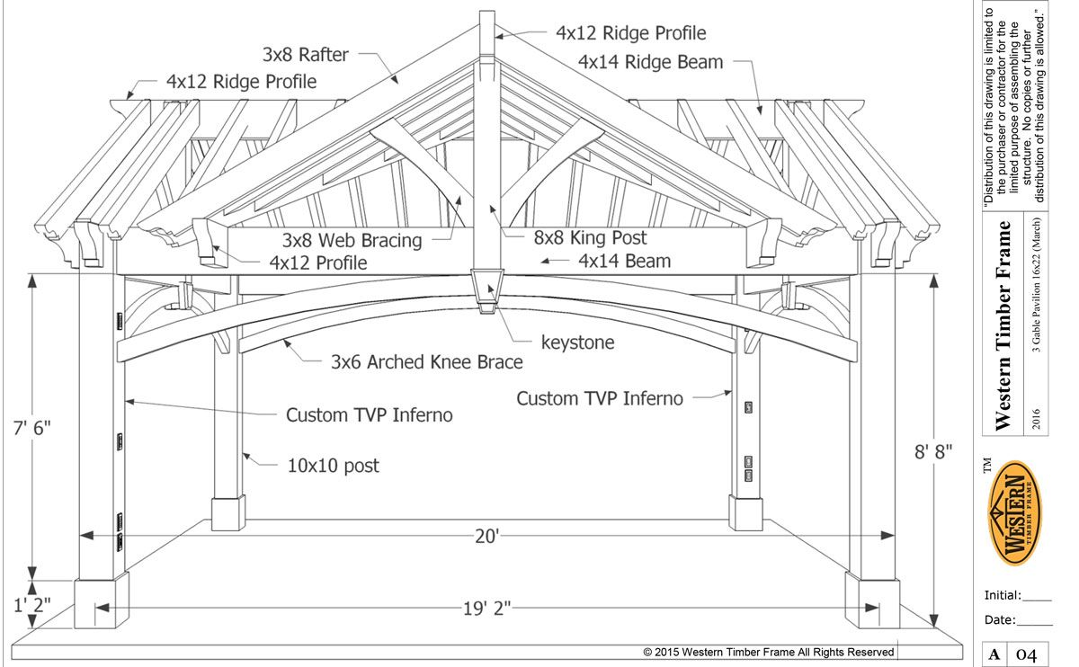 3 Gable Diy Pavilion Integrated Power Porch Roof Design Roof Truss Design Porch Roof Construction