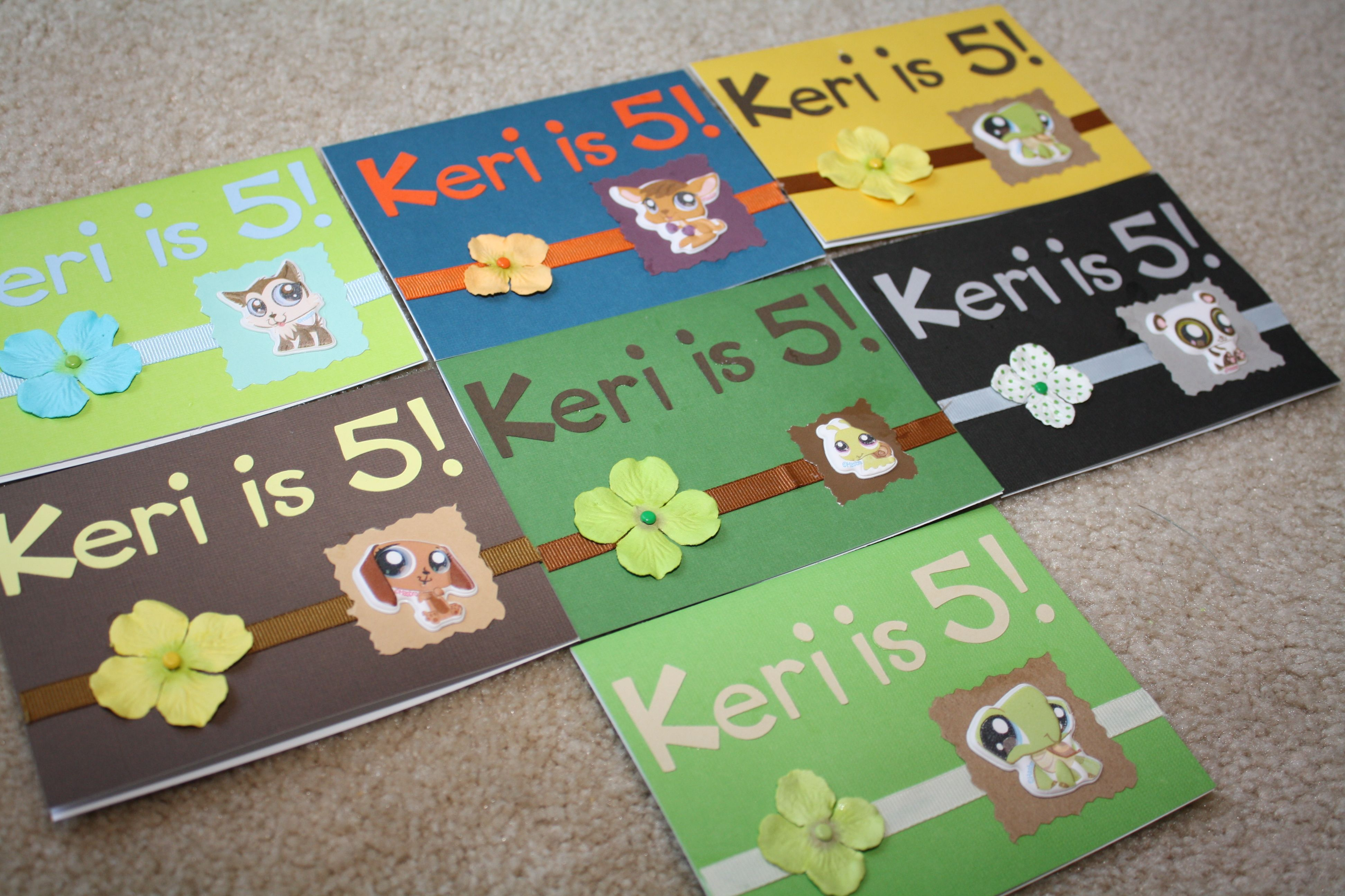 Littlest Pet Shop Birthday Invitation Cards For My Daughters 5th