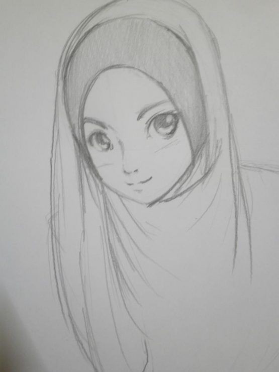 pencil draw hentai Hijab