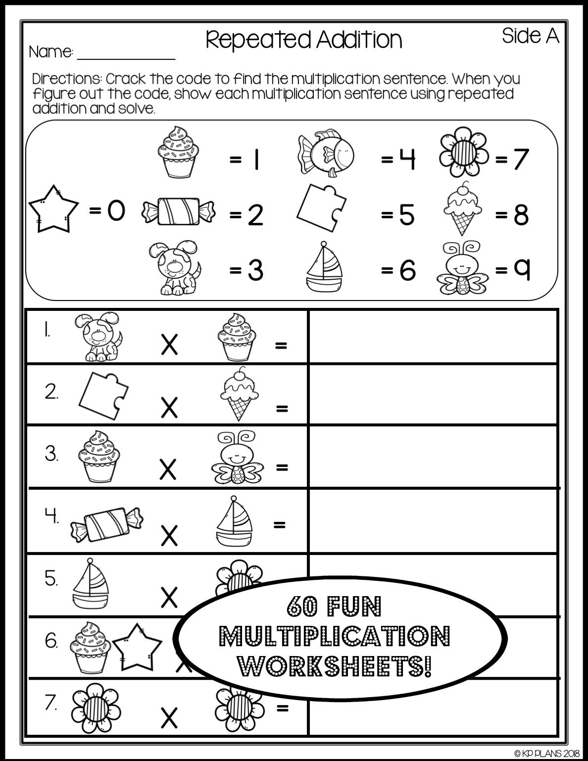 Multiplication Worksheets No Prep Printables