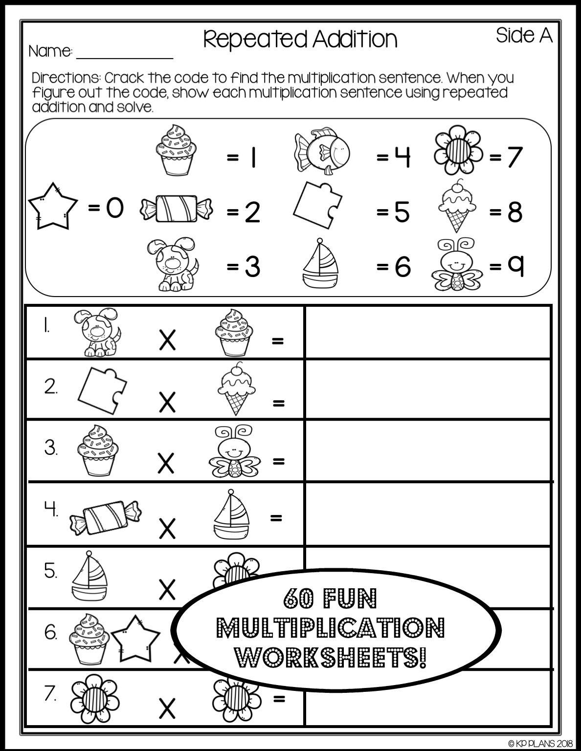 multiplication strategies worksheets no prep multiplication. Black Bedroom Furniture Sets. Home Design Ideas
