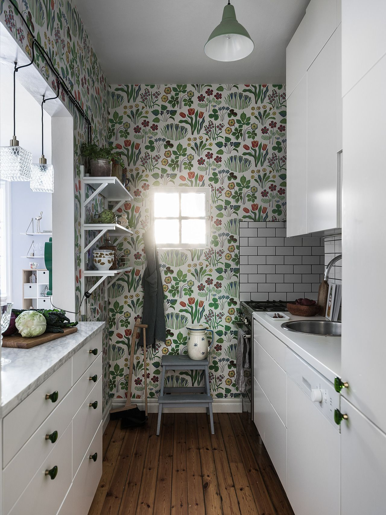 The Nordroom | Small white kitchens, Accent wall in ...