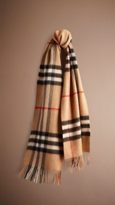 17dadf503958 Heritage Check Cashmere Scarf