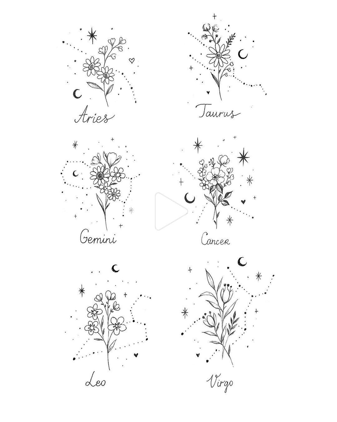 "Julia Mo on Instagram: ""🌸💫 #constellations #constellationtattoo #const"