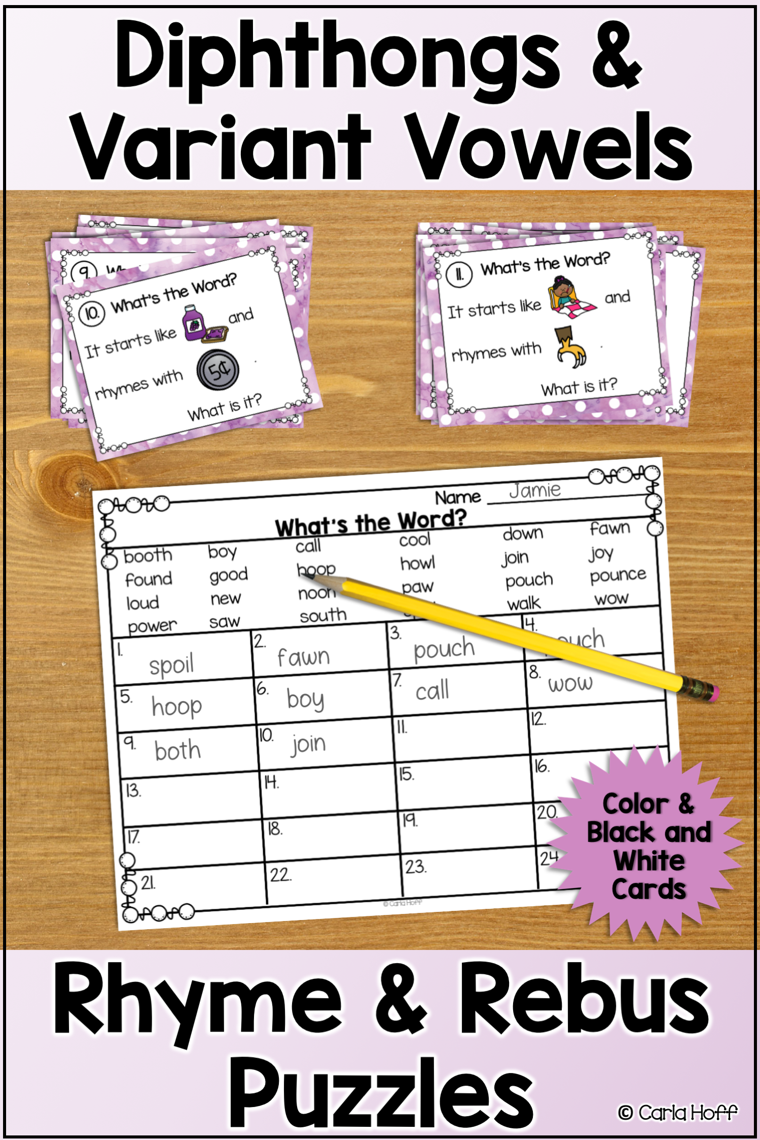 Rhyme And Rebus Word Puzzles