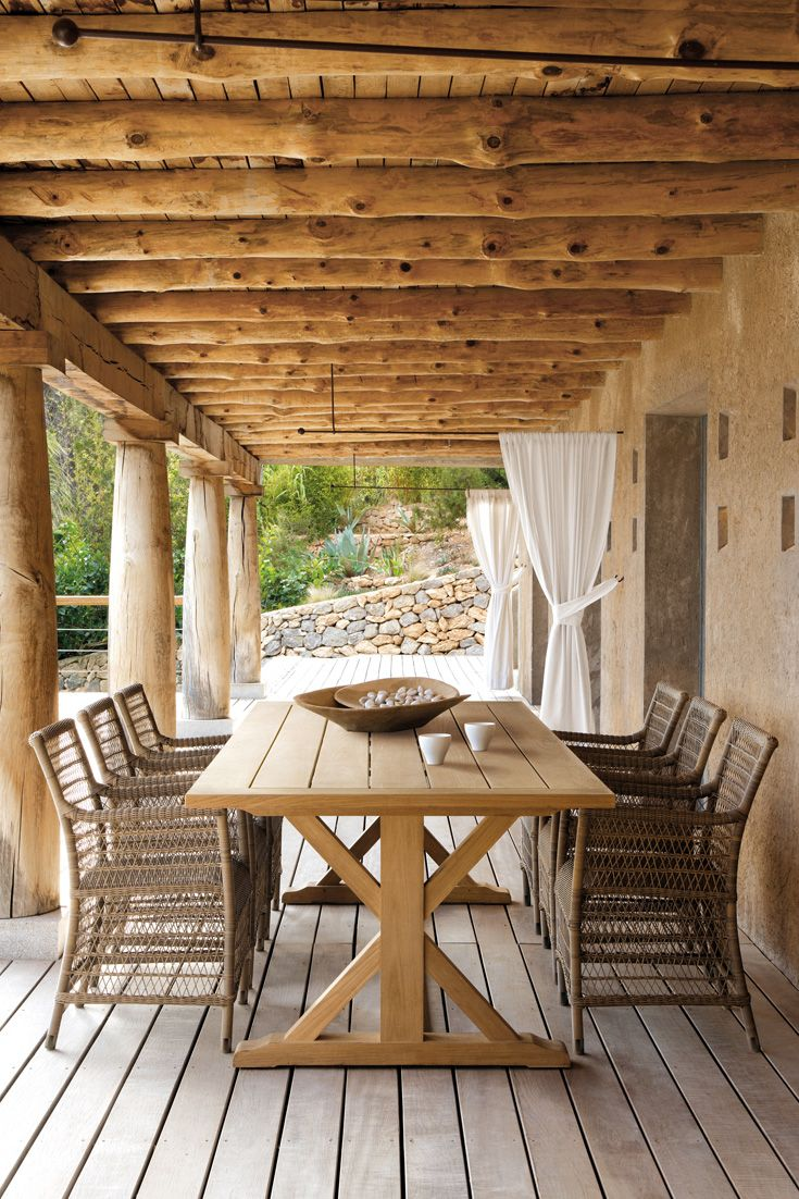 designer wicker and teak garden