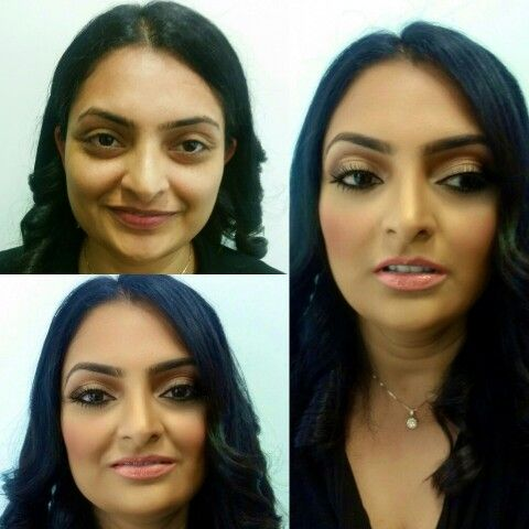 Before And After Indian Makeup Makeup Done By Afacemadeup Indian