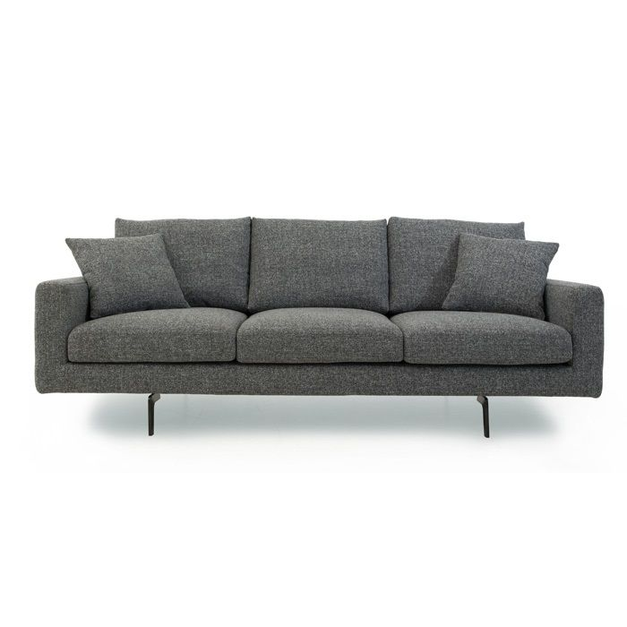 Furniture 0 Interest: Boliya Zero Sofa Grey Fabric Metal Legs Scandinavia Inc