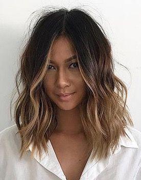 Haare, kurze Haare, welliges Haar, Ombre, Balayage, Naturhaar, Schönheitswellen. #Hairi … #hairandbeauty