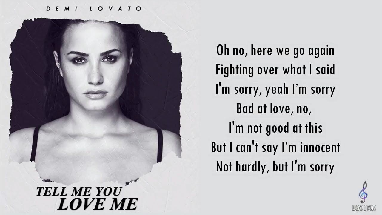 Tell me you love me demi lovato music video meaning