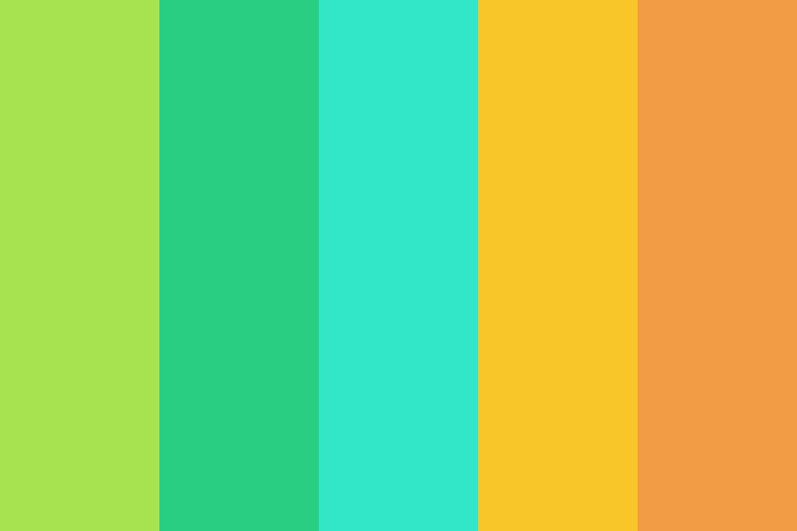 Tropical Colors: Tropical Sunset Color Palette