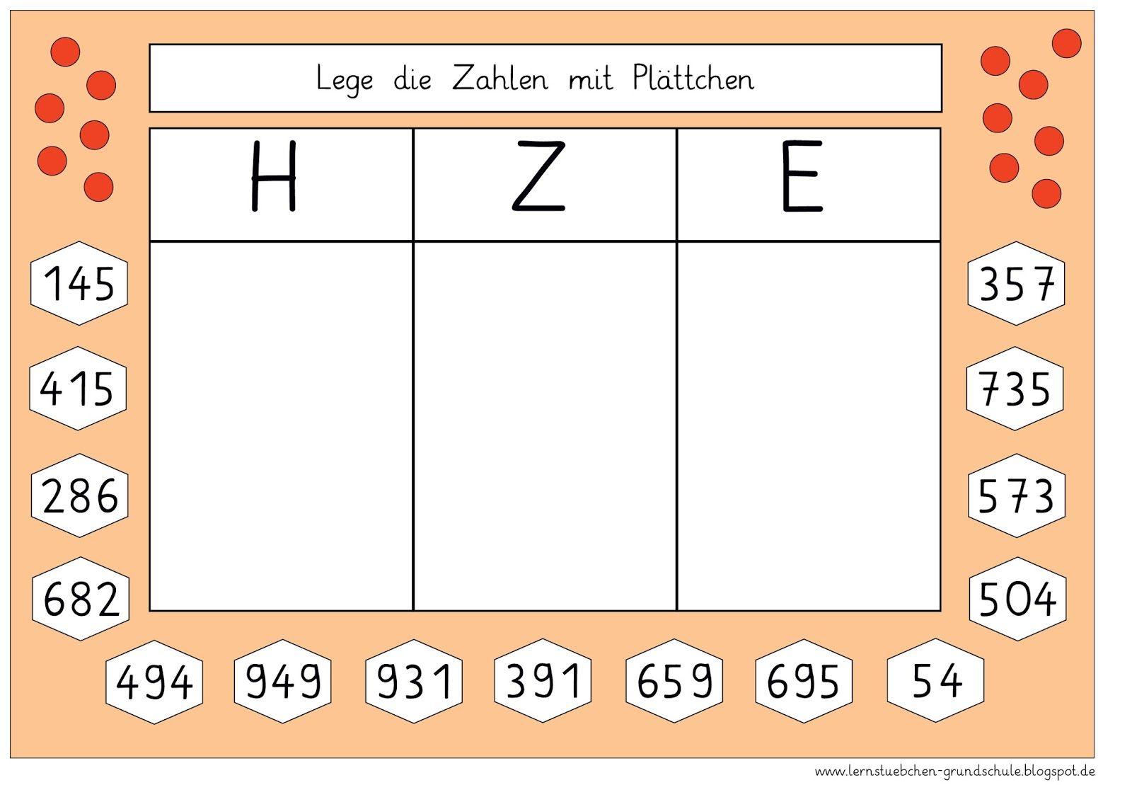 Lernstübchen: Zahlen in der Stellentafel legen (2) | Mathe ...