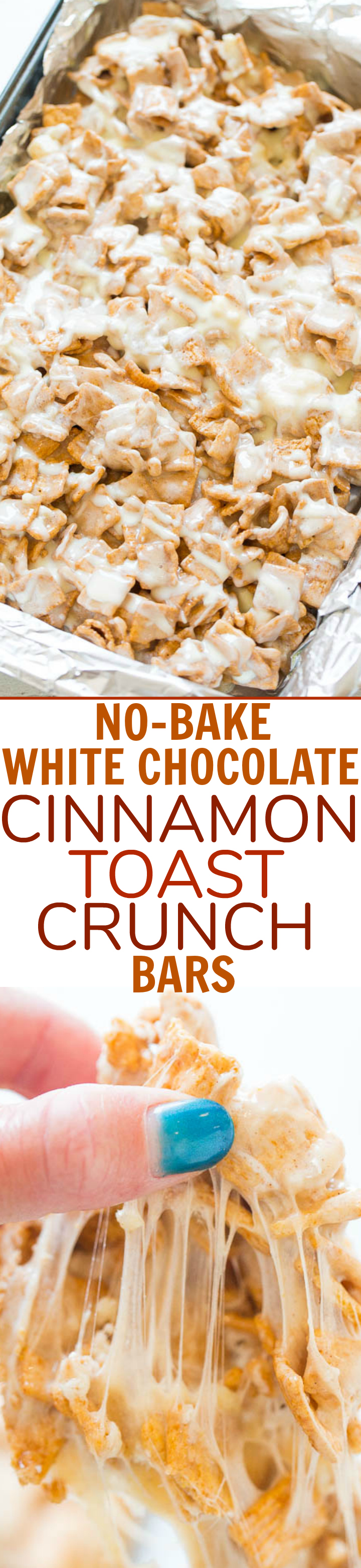 No-Bake White Chocolate Cinnamon Toast Crunch Bars #cinnamontoastcrunch