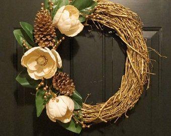 Photo of White winter wreath