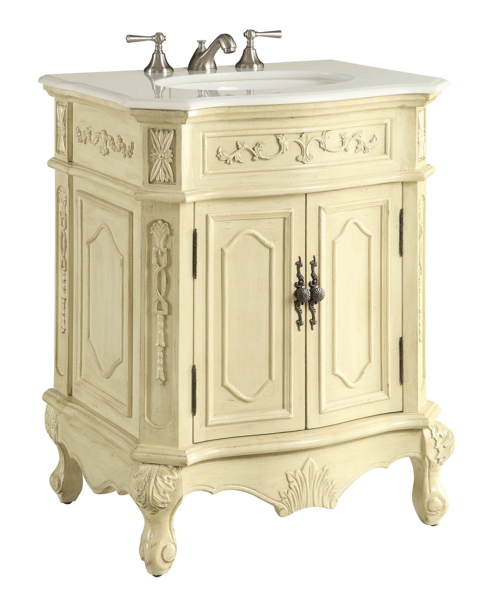 27 Petite Powder Room Beige Color Spencer Bathroom Sink Vanity