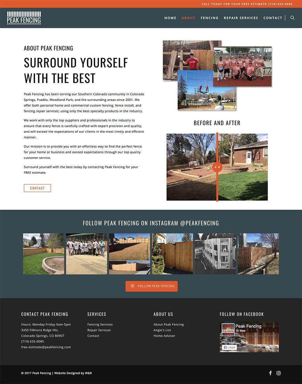 Peak Fencing Complete Branding Website Design Packages Branding Website Design Website Design Custom Website Design