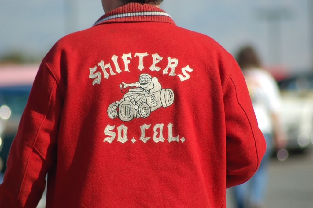 Ol' School hand embroidered Car Club Jackets… Cool!