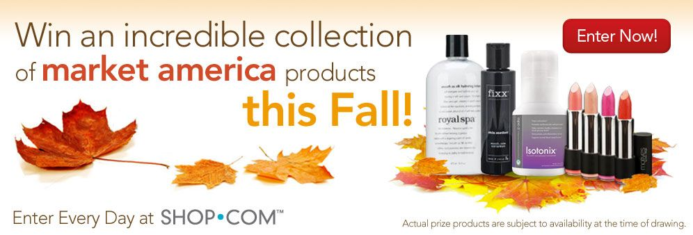 Just enter your email and you can win some of my favorite market america products! Enter every day :)