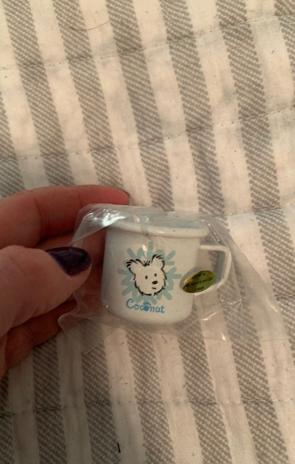 Doll Sized Coconut Mug Brand New In Bag Never Played With From A Smoke Free Home American Girl Doll Accessories Miniature Crafts American Girl Doll