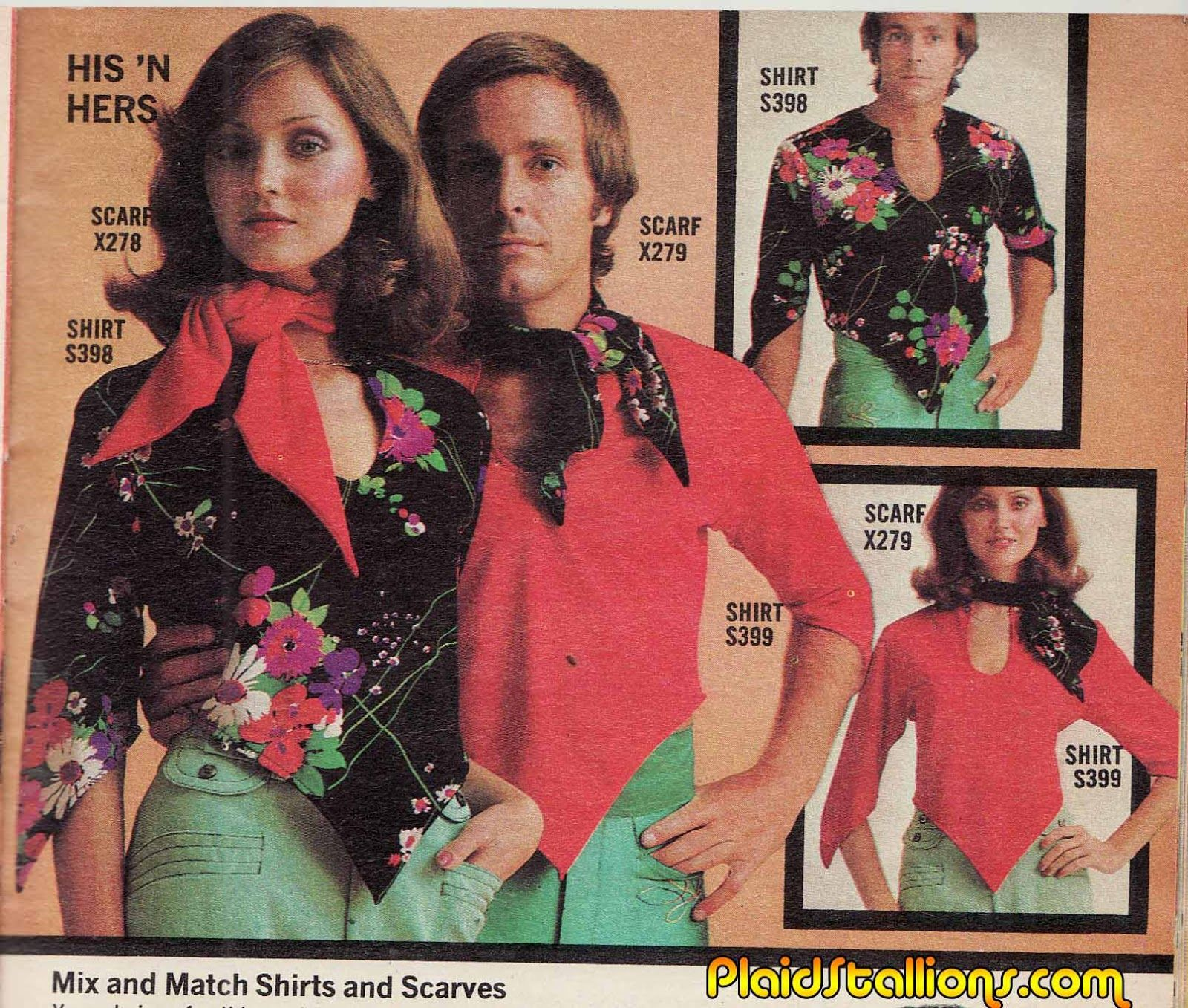Plaid Stallions Rambling And Reflections On 70s Pop Culture Couple Outfits Matching Couple Outfits Matching Couples
