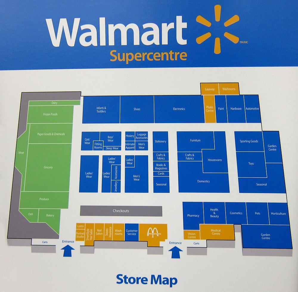 layout design of walmart stores