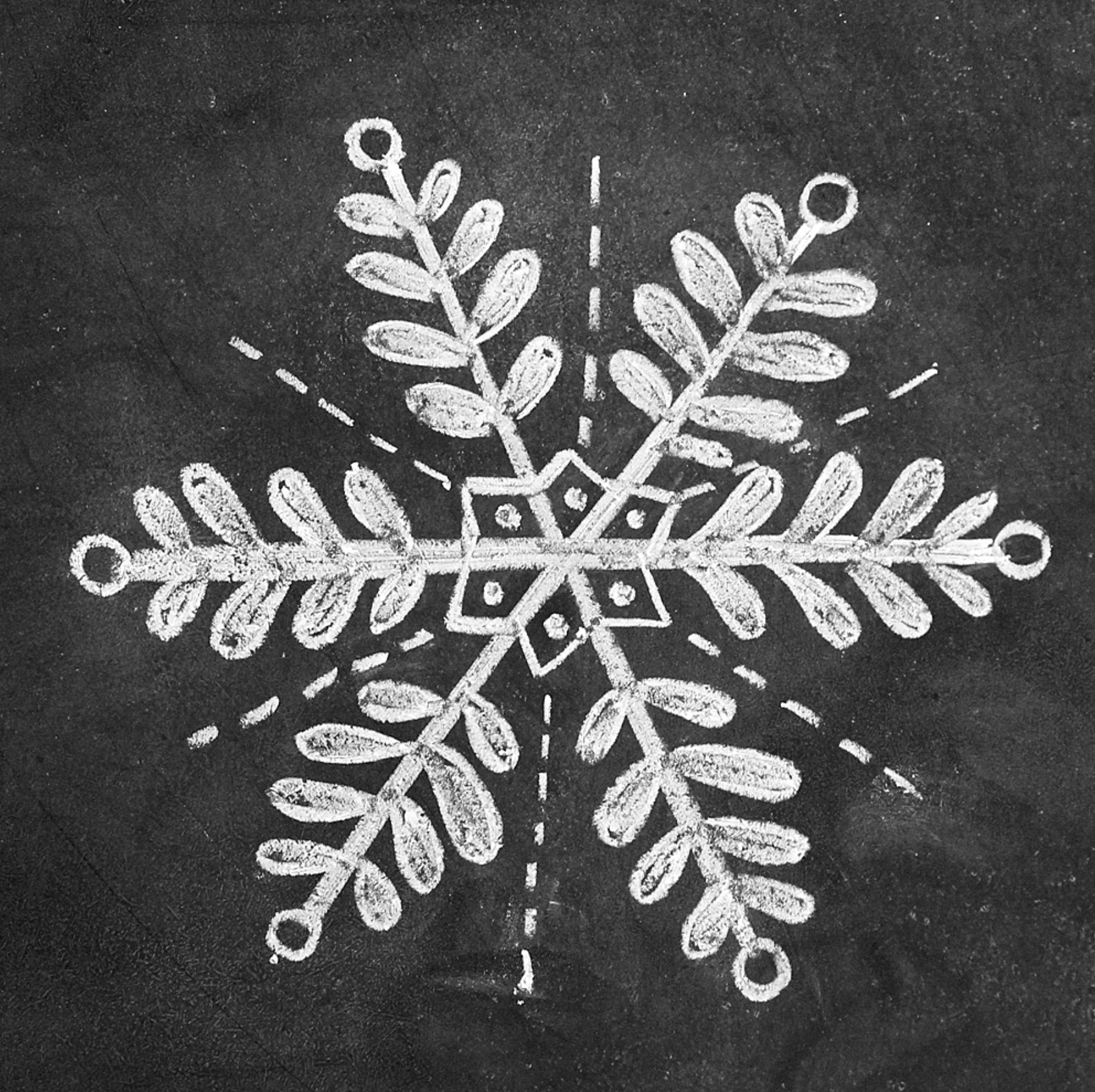 Photo of How to Draw Snowflakes for a Holiday Chalk-Art Sign
