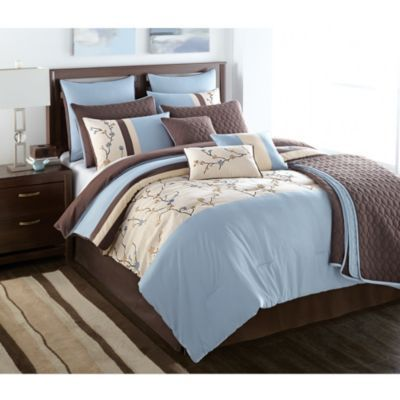 wholehomemd elise 12 piece comforter set sears sears - Sears Bedding Sets