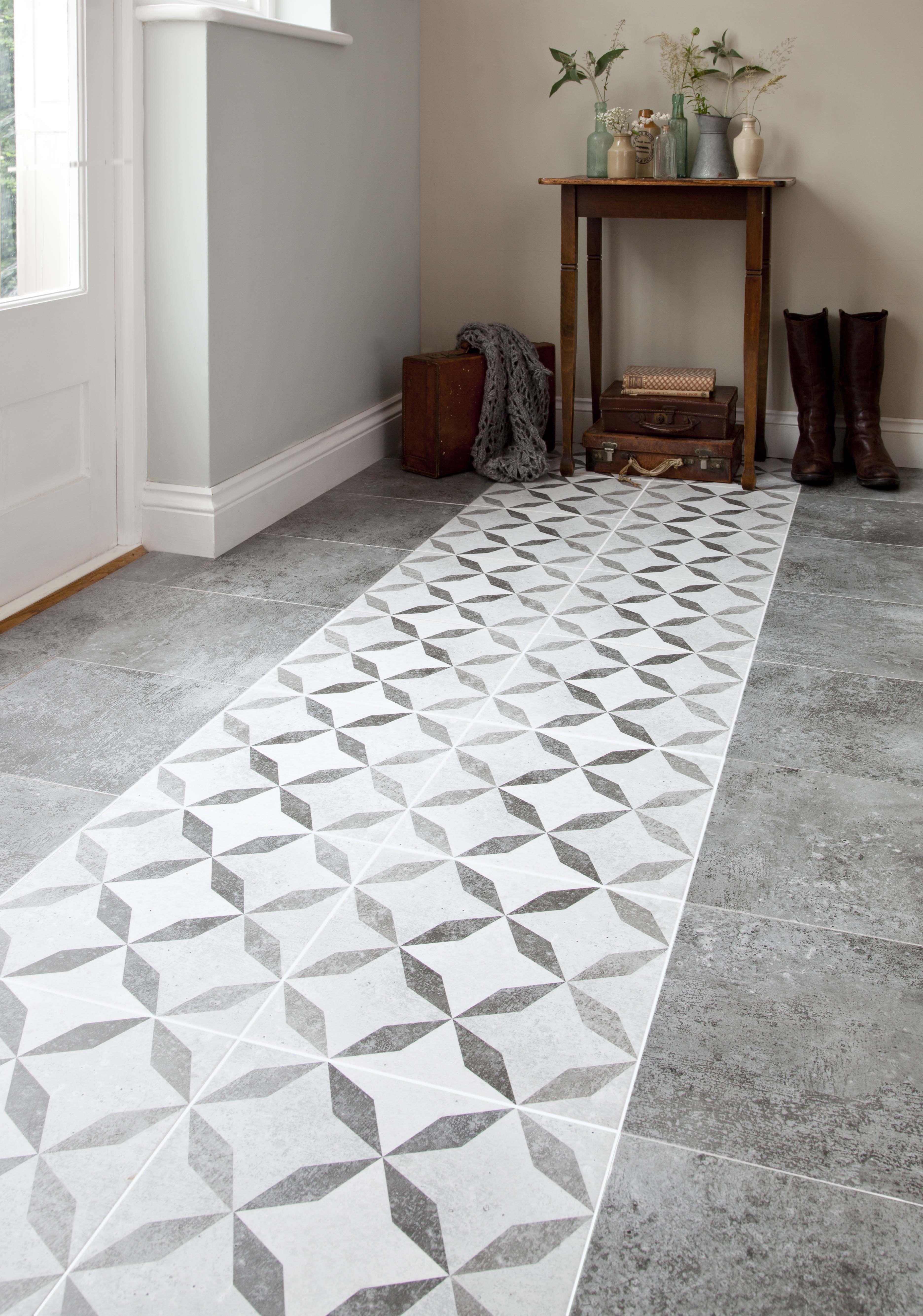Feature Floors Concrete Tiles From House Of British Ceramic Tile Http Www Britishceramictile Co Patterned Floor Tiles Ceramic Floor Tiles Hallway Tiles Floor