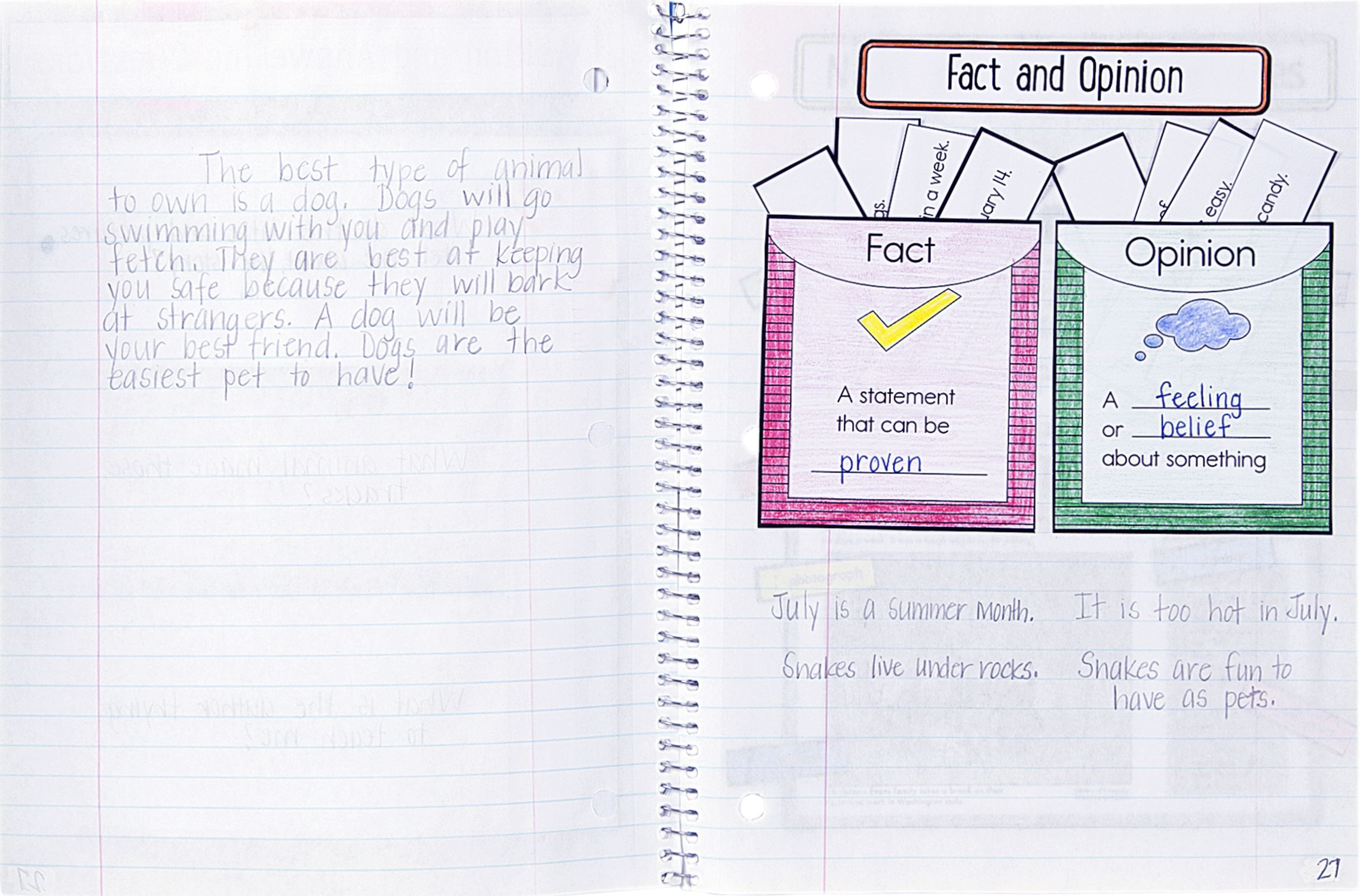 Fact And Opinion Activity From New Carson Dellosa