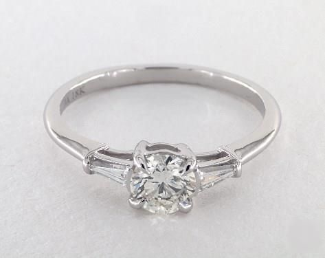 7ct Round Three Stone Engagement Ring In White Gold See It 360 Hd