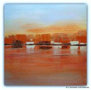 Abstrakte Acrylmalerei, Morgenrot