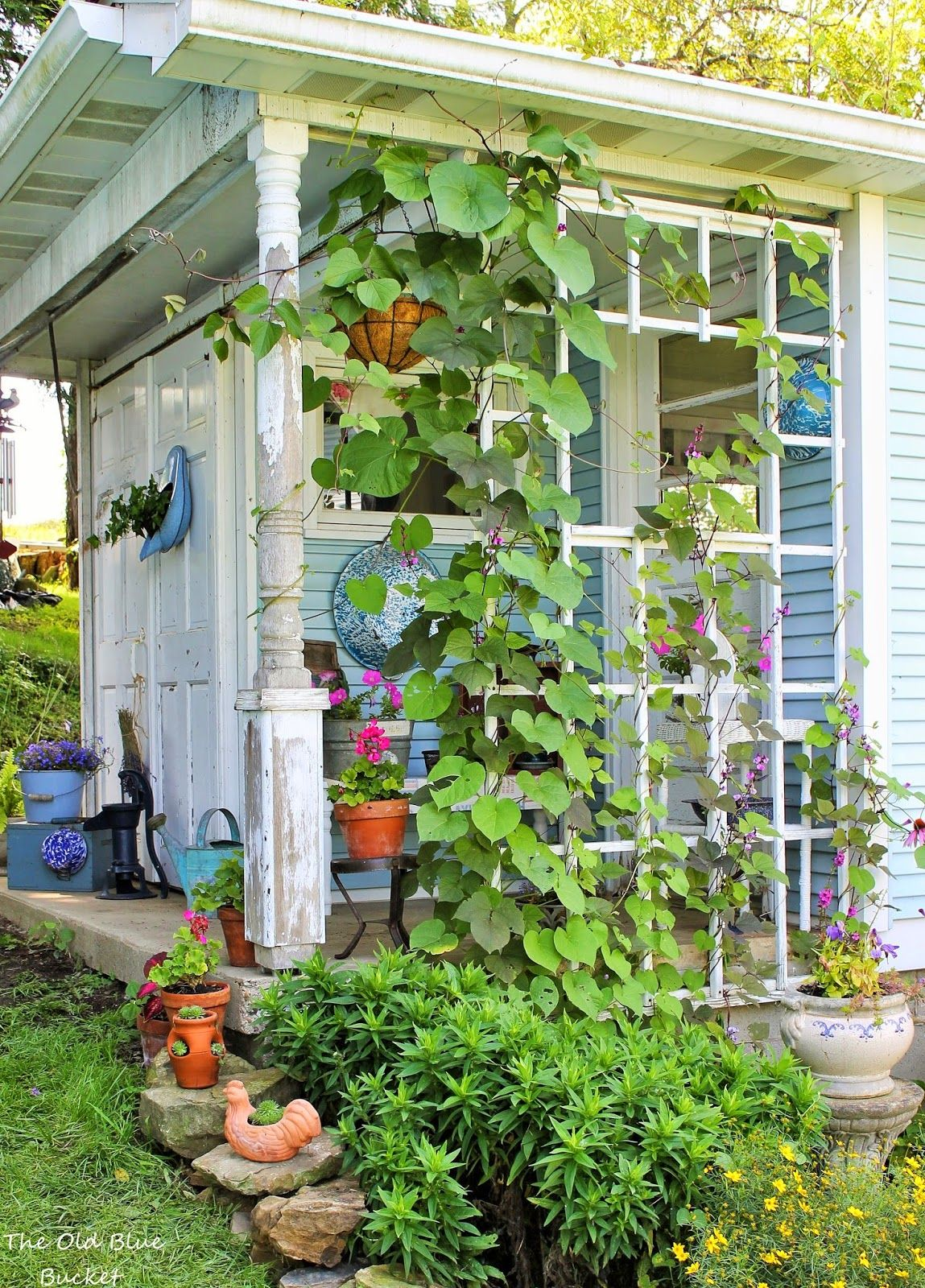 Welcome to my potting shed! - A tour of my creative space that I\'ve ...