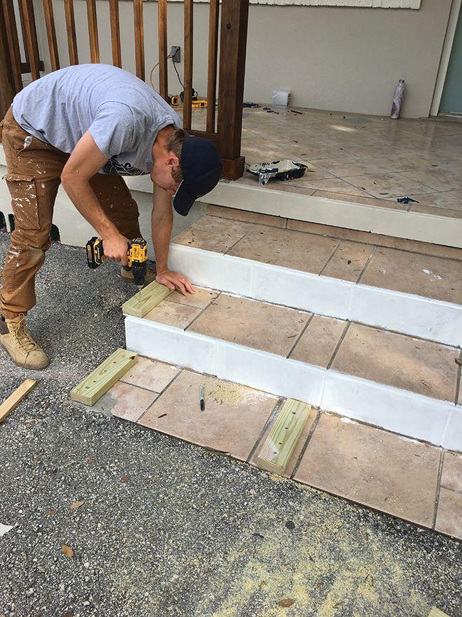 Best Simple Diy Wood Porch Steps Makeover Porch Steps House 400 x 300