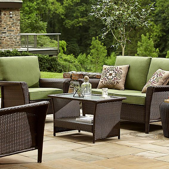 Ty Pennington Style Parkside Deep Seating Set- Green