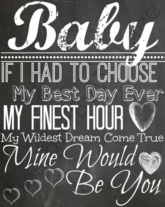 Blake Shelton Chalkboard Digital Download Baby If I Had To Chose