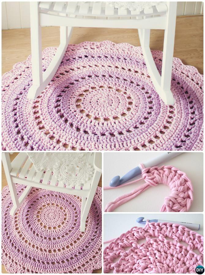 Diy Crochet Mandala Floor Rug Free Pattern 10 Handmade Area Ideas