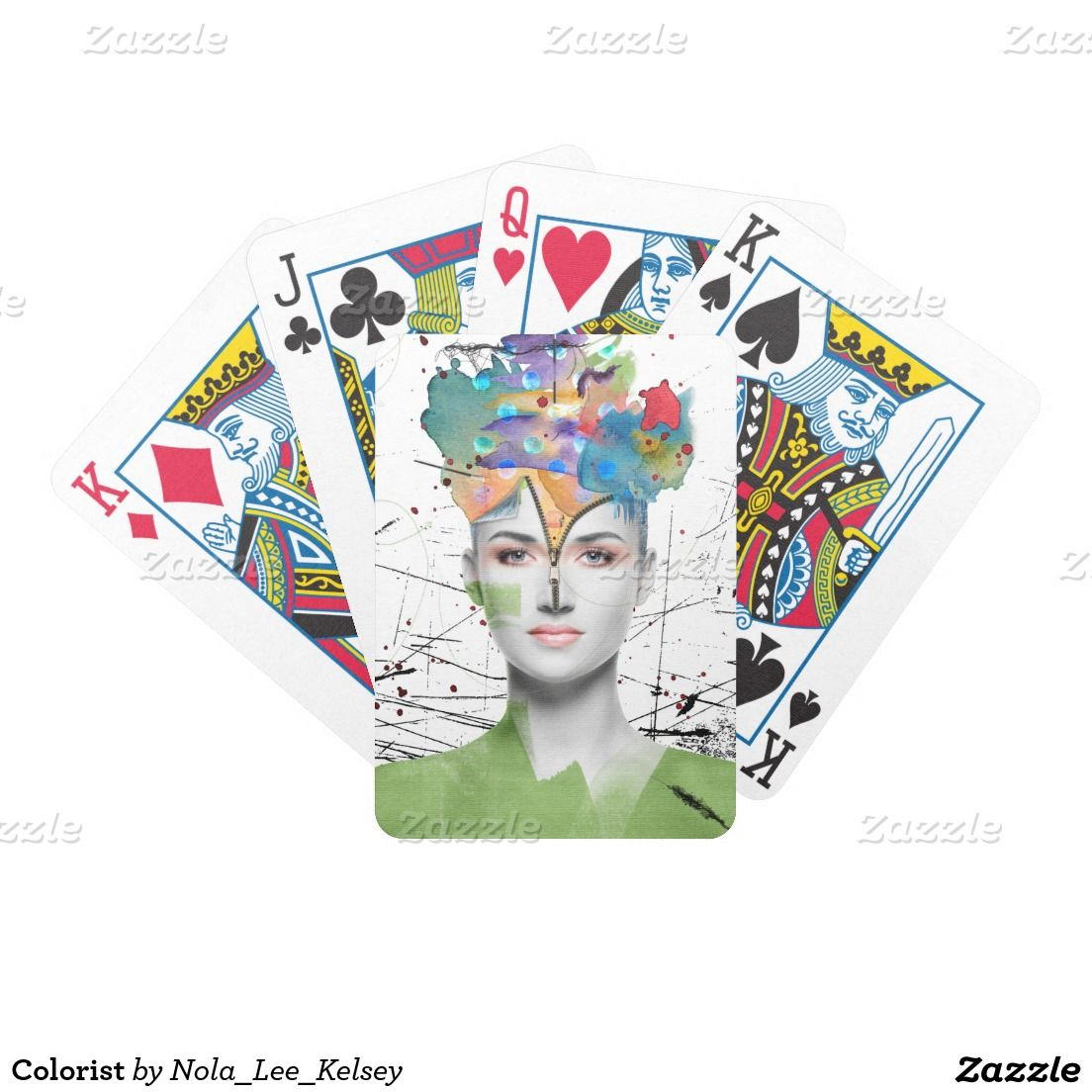 'Colorist' Bicycle Playing Cards via Zazzle with art by Nola Lee Kelsey