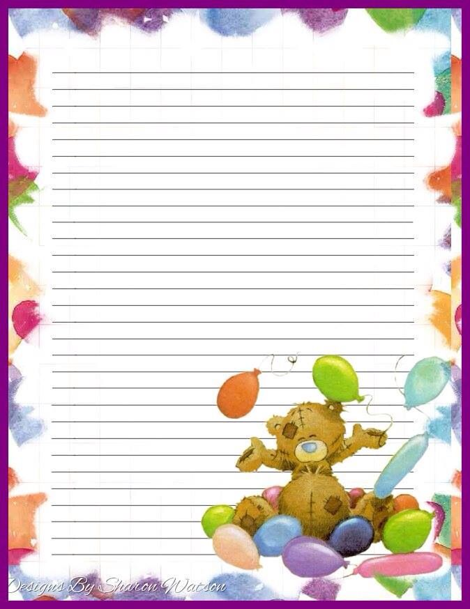 baby journal note paper blue nose friends writing papers tatty teddy journal ideas letterhead snail mail planner ideas