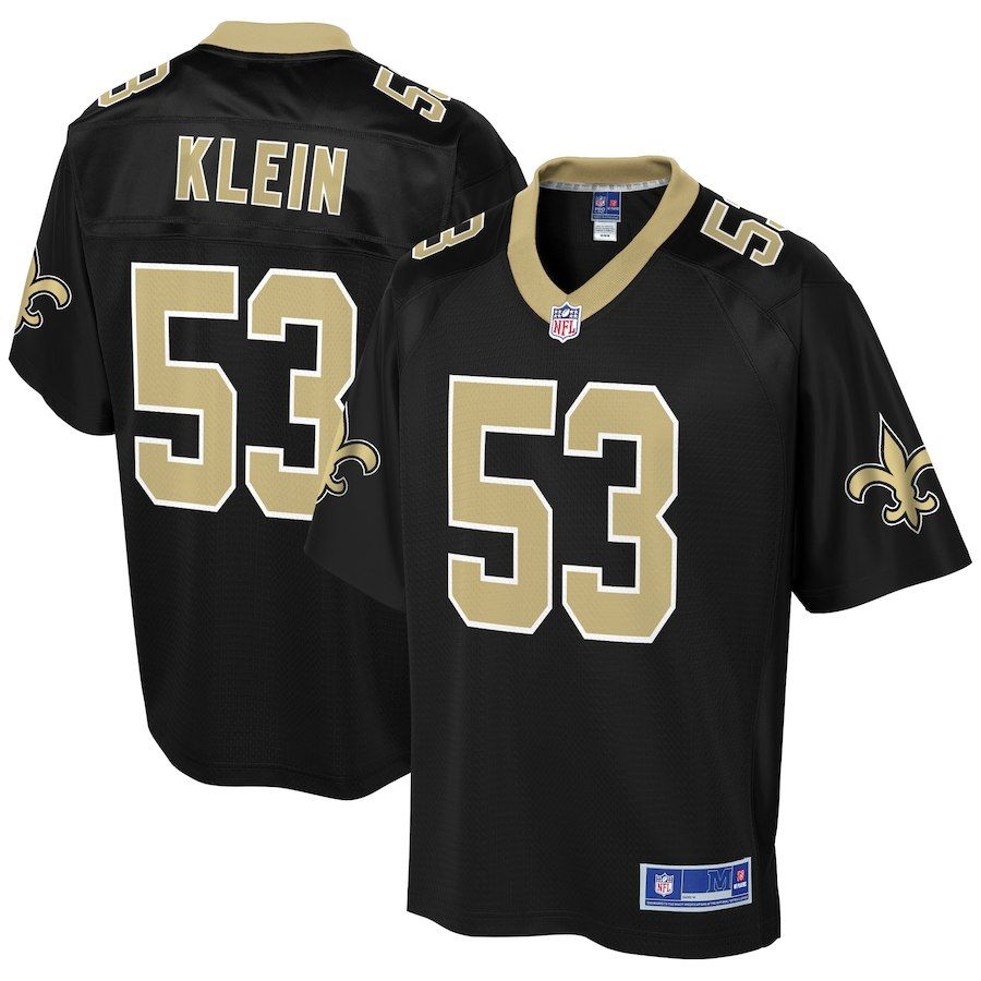 78b28198b Men s NFL Pro Line A.J. Klein Black New Orleans Saints Team Color Player  Jersey