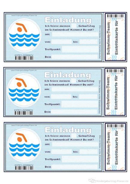 Einladung Fürs Schwimmbad
