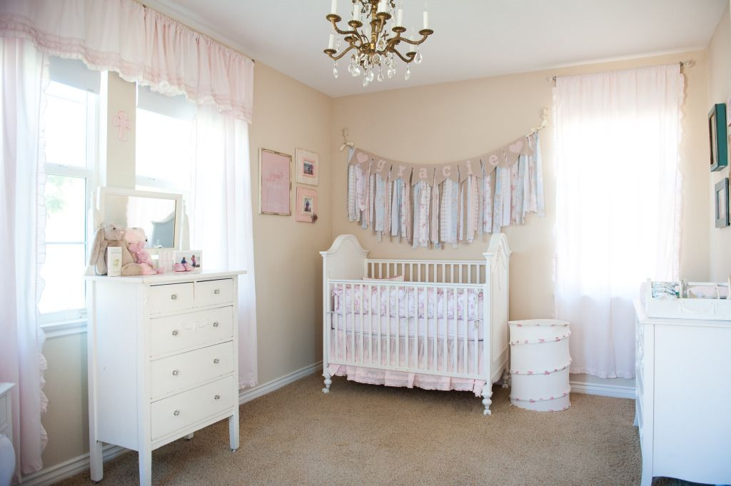 Cute light pink girl nursery cute chic nursery baby room