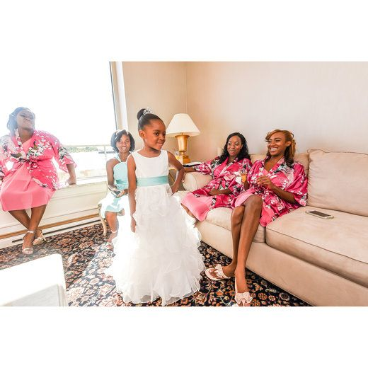 Candid flower girl photo moments before the wedding. #BridalBliss | essence.com