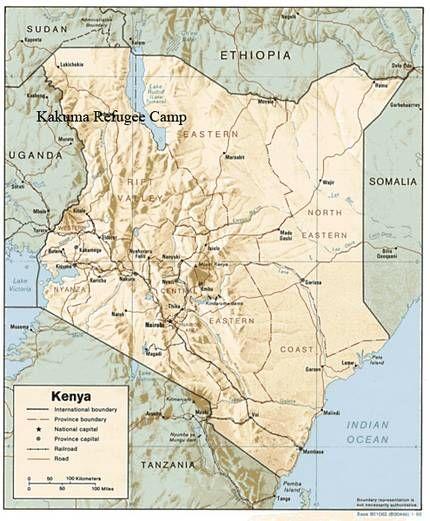 Kakuma Refugee Camp Kenya Kenya Africa Map Kenya Travel