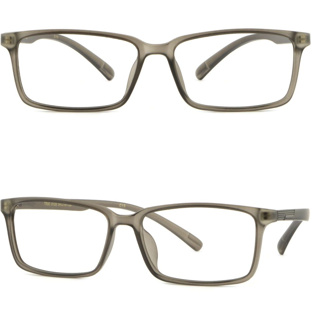 34e2fc636b Light Flexible Plastic Frame Square TR90 Men s Women s Prescription Glasses  Gray  Unbranded