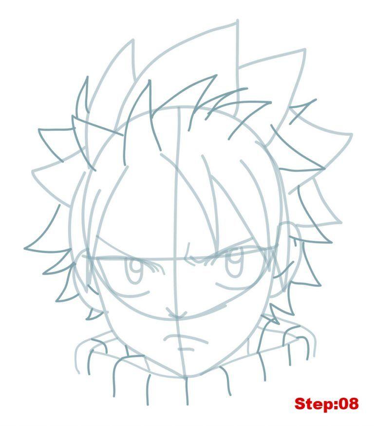 How To Draw Natsu From Fairy Tail Mangajam Com Fairy Tail Drawing Fairy Tail Art Natsu Drawing