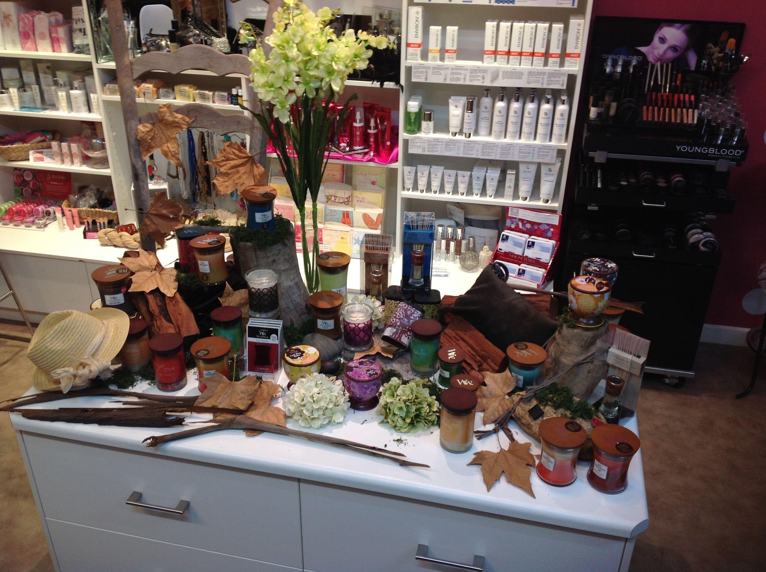Wood Wick Candle Display