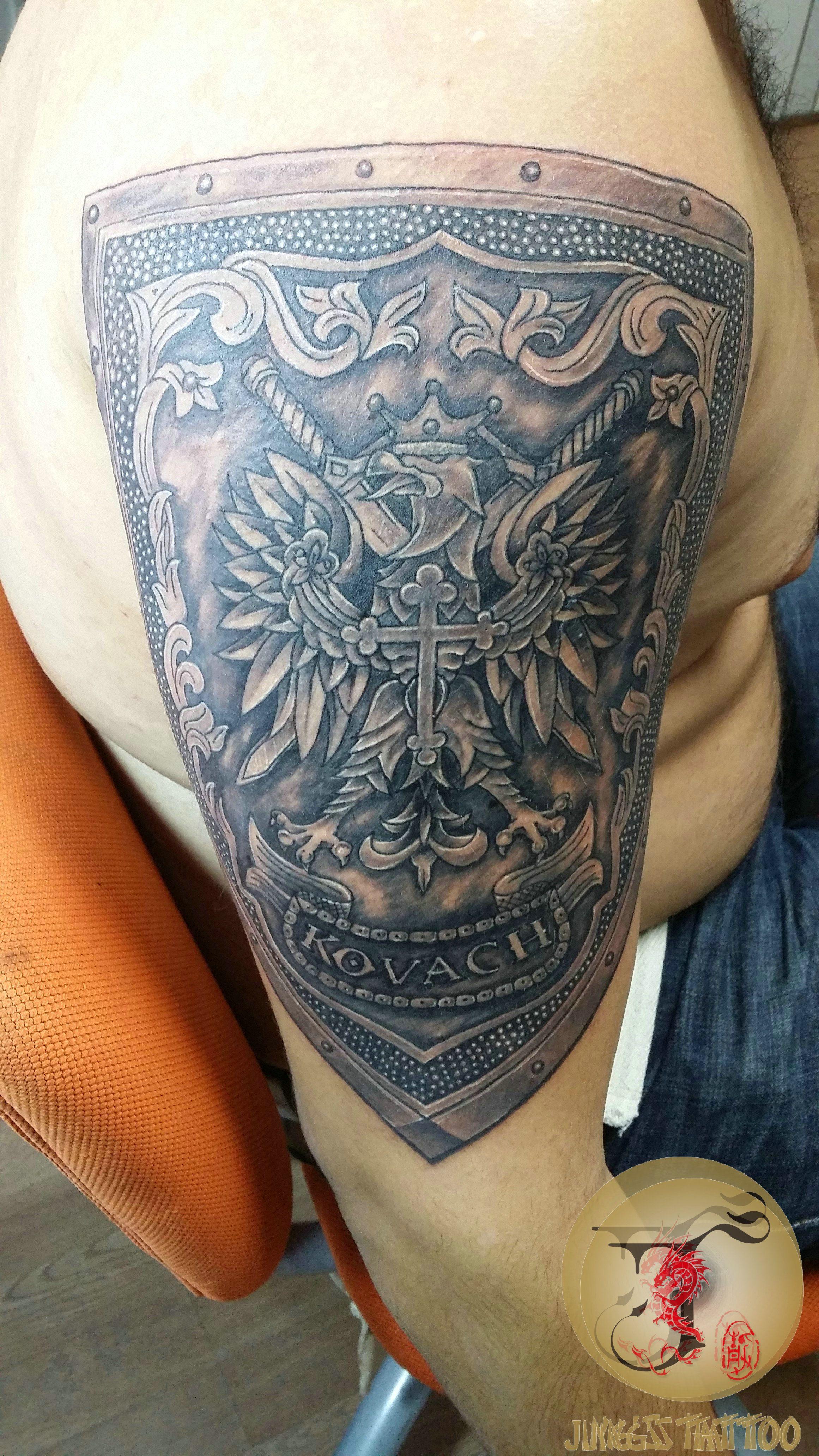 Welsh dragon tattoo designs - Poland Shield Tattoo