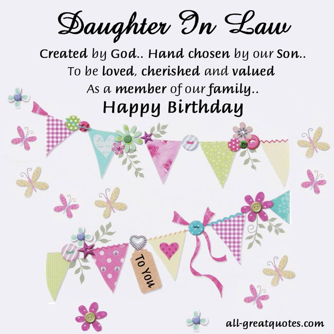 Sweetest Daughter In Law Birthday Cards To Share